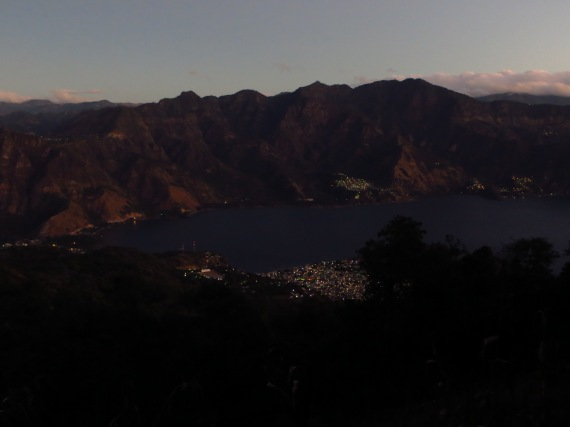 Lago Atitlan at sunrise from the slopes of Volcan San Pedro  Photo Stephan Lorenz