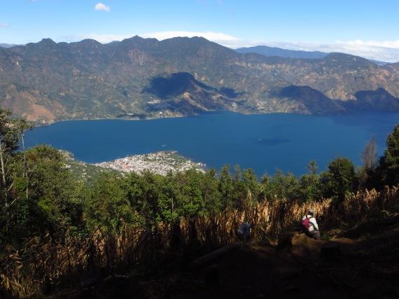 Lago Atitlan as seen from halfway up Photo Stephan Lorenz